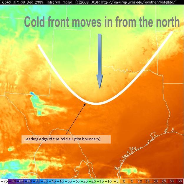 Jeff Duda Cold Front On Ir Satellite